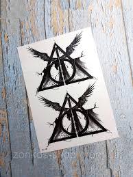 переводная татуировка флеш тату временная татуировка дары смерти