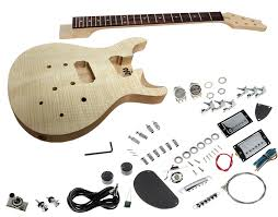 solo pr style diy guitar kit carved with flame maple top