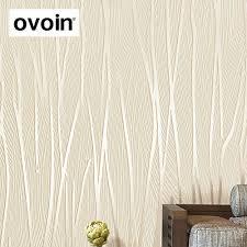 Moderne 3d Behang Roll Vlakte Textuur Reliëf Wit Beige Grijs