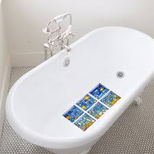 fullsize of gallant yanqiao blue mosaic diy anti slip safety shower bath tub decal stickers bathtubappliques