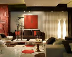Red Decor For Living Room Residence In Palazzo Del Mare Designed By Pepe Calderin Design