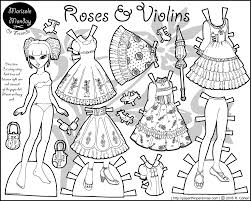 Classic Lolita Fashion Paper Doll: Roses & Violins