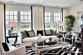 black and white curtains for luxury living room decoration with modern interior design and latest furniture ideas