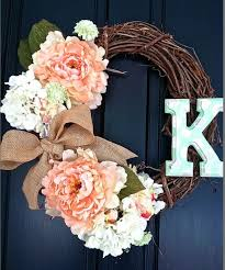 initial wreaths for front doorSUMMER INITIAL WREATH DIY  StoneGable  Picmia
