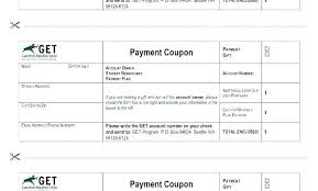 Payment Coupons Template Chanceinc Co
