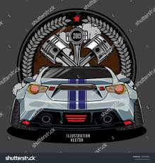 Race Car Engine Design Engine Shoulder Car Piston Racing Car Stock Vector Royalty