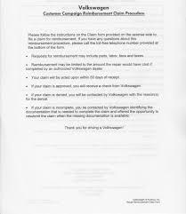Vwvortex Com Copies Of Maf Refund Letter And Reimbursement Forms