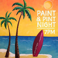 join us for a night of painting and fun with paint pint night hosted by