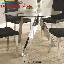 dining tables coaster glass dining table contemporary top with chrome base by tabitha round in