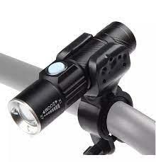 Đèn pin gắn phía trước cho xe đạp siêu sáng Q5 sạc điện usb chống nước (kèm  chân đế gắn đèn pha) Mai Lee