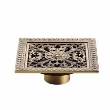 wanfan hj 8701t shower drains 12 x 12cm square bath drains strainer hair antique brass