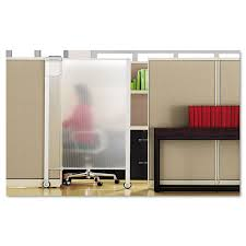 office cubicle door. Quartet Premium Workstation Privacy Screen, 38w X 64d, Translucent Clear/Silver | OfficeSupply.com Office Cubicle Door