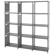 4 tier storage cube closet organizer shelf cabinet