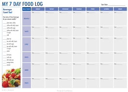 free food journal template diabetic food logs templates franklinfire co