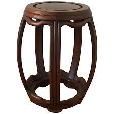 1950s ming style wooden garden stool for