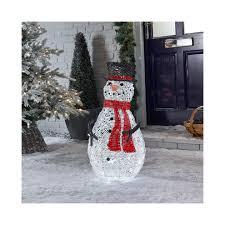 Indoor Snowman Lights Led Rattan Snowman Christmas Figure 70cm Light Up Indoor
