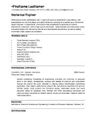 Free Download Mechanical Engineering Resume Sample Document