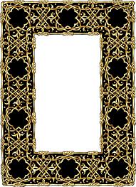 Ornate gold frame border e picinfo