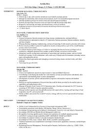 Security Resume Sample Amazing Manager Cyber Security Resume Samples Velvet Jobs