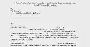 Form Of Share Certificate Housing Society Maharashtra Transfer Set