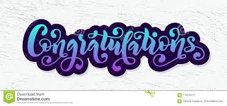 word of congratulations congratulations hand lettering quote hand drawn modern brush