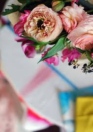 beautiful details from our diy flower chandelier photo lisa tilse for we are scout
