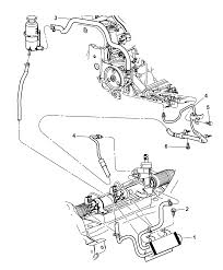 2007 chrysler pt cruiser power steering hoses diagram i2166457