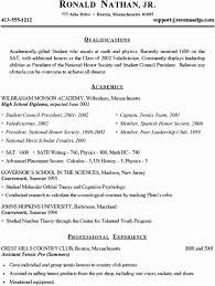 High School Resume For College Application Template College
