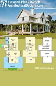 down the farm architecture two story house southern farmhouse vintage plans architectural designs exclusive plan has front porch partially wraps each side