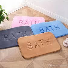 2019 bathroom pad thickening bedroom doormat bath carpet slow rebound bathroom anti skid pad memory foam rug anti slip rugs for kitchen foot mat from