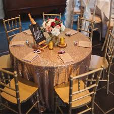 108 round rose gold sequin tablecloth sparkly tablecloth wedding party sequins