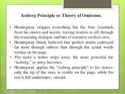 hemingway style iceberg principle