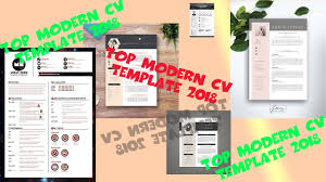 Top Modern Cv Template 2018 Download Free