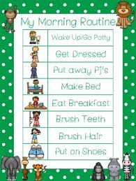 4 Zoo Themed Daily Routine Charts Preschool 3rd Grade Routine Activity
