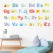 alphabet wall stickers abc wall