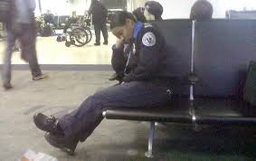 tsa guard takes cat nap at ardia airport on sunday the agent has been reassigned
