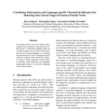 literal language combining abstractness and language specific theoretical