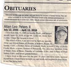 Newspaper Obituary Template Template Business