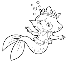 dora and friends coloring pages dora and friends mermaid coloring pages sketch templates