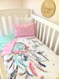 Dream Catcher Blankets Baby Cot Crib Quilt Blanket Dreamcatcher Baby Girl Full Set 50
