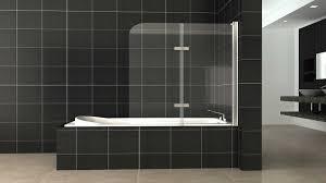 allure frameless shower screen panel over bathtub highton supplied installed