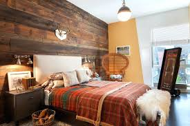 rustic themed bedroom masculine bedroom ideas with rustic decor style and wood background accent plus corner