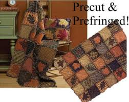 Rag quilt kit | Etsy & AUTUMN LEAVES Rag Quilt KIT - Precut Pre-Fringed Squares / Blocks - Moda  Woven Adamdwight.com