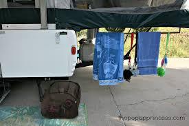 organizing a pop up camper