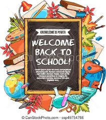 Welcome Back To School Sketch Banner Design