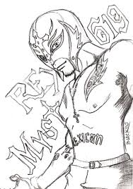 Small Picture Get This Printable wwe coloring pages rey mysterio 41902