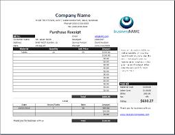 Business Receipt Product Purchase Receipt Template Receipt Templates