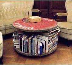 small round bookshelf table round