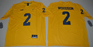 Wholesale Sale Yellow Jersey Stitched Wolverines Charles Brand On Woodson Ncaa Jordan 2
