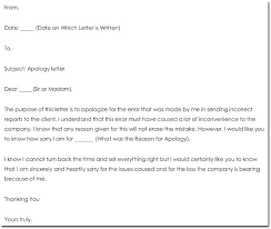 Apology Letter Sample To Boss Custom Apology Letter For Mistake At Work To Boss Manager Oliviajaneco